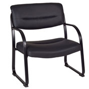 Regency Big and Tall Side Chair - Black - Crusoe Series