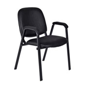 Regency Vinyl Stack Chair - Black - Ace Series