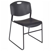 Regency Plastic Stack Chair - 400 lb. Capacity - Black
