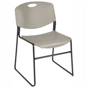 Regency Plastic Stack Chair - 400 lb. Capacity - Gray
