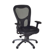 Regency Mesh Back Swivel Chair - Black - Citi Series