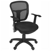 Regency Mesh Back Office Task Chair with Arms - Black