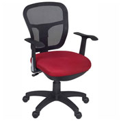 Regency Mesh Back Office Task Chair with Arms - Red