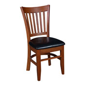 Regency Framed Café Chair with Black Vinyl Seat - Zoe Series