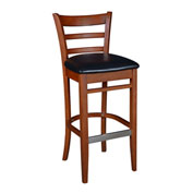 Regency Framed Café Bar Height Chair with Black Vinyl Seat - Zoe Series
