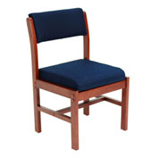 Regency Leg Base Side Chair - Blue/Cherry - Belcino Series