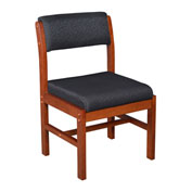 Regency Leg Base Side Chair - Black/Cherry - Belcino Series