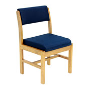 Regency Leg Base Side Chair - Blue/Medium Oak - Belcino Series