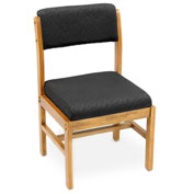 Regency Leg Base Side Chair - Black/Medium Oak - Belcino Series