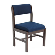 Regency Leg Base Side Chair - Blue/Mocha Walnut - Belcino Series