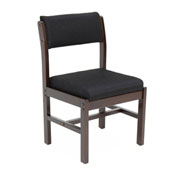 Regency Leg Base Side Chair - Black/Mocha Walnut - Belcino Series