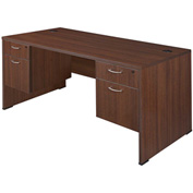 "Regency Seating Sandia Series 30"" x 66"" Double Pedestal Desk - Java"