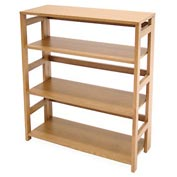 34x30 Flip Flop Bookcase - Medium Oak