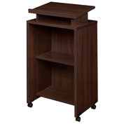 Regency Mobile Podium / Lectern in Java Finish