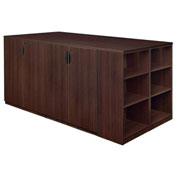 Regency Stand Up 2 Storage Cabinet - Lateral File - Desk Quad - Bookcase - Java - Legacy Series