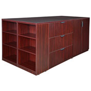 Regency Stand Up 2 Storage Cabinet - Lateral File - Desk Quad - Bookcase - Mahogany - Legacy Series