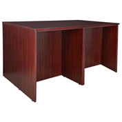 Regency Stand Up 2 Desk - Storage Cabinet - Lateral File Quad - Mahogany - Legacy Series