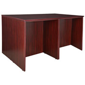 Regency Stand Up Desk Quad - Mahogany - Legacy Series