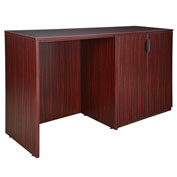 Regency Stand Up Side-to-Side Storage Cabinet and Desk - Mahogany - Legacy Series