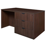 Regency Stand Up Desk - 3 Lateral File Quad - Java - Legacy Series