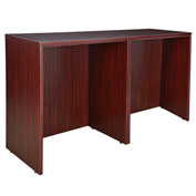 Regency Stand Up Side-to-Side Desks - Mahogany - Legacy Series