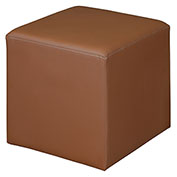 Regency Square Lounge Ottoman - Toffee Vinyl - Jean Series