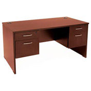 30x60 Double Pedestal Desk - Cherry