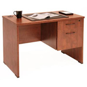 Single Pedestal Desk - Cherry