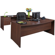 Regency Seating Sandia Series Bow Front U-Shaped Desk - Java