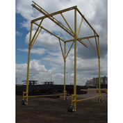 Rigid Lifelines® Rolling Box Frame Fall Protection System, 30' x 15' x 24', 2 Person Capacity