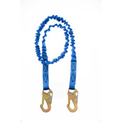 Connex™ 6' Internal Shock Absorbing Lanyard W/2 Snap Hooks, 310 lbs Capacity