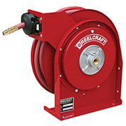 "Reelcraft 4425 OLP 1/4"" x 25' 300PSI Premium Duty Retractable Hose Reel For Air/Water"