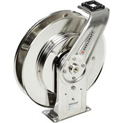 Reelcraft 7800 OLS 1/2 x 50ft, Stainless Steel Retractable Hose Reel, Air/Water without Hose 500 psi