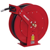 "Reelcraft F83050 OLP 3/4"" x 50' 250PSI Retractable Fuel Delivery Hose Reel w/ Hose"