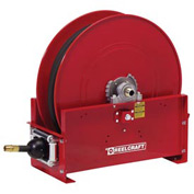 "Reelcraft FD9450 OLPBW 1"" x 50' 250PSI Retractable Fuel Delivery Hose Reel w/ Hose"