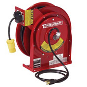 Reelcraft L 5550 123 7 12 AWG / 3 Cond  x 50ft, 20 AMP, Duplex GFCI Outlet with Cord