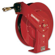 "Reelcraft TH5425 OMP 1/4"" x 25' Twin Hydraulic Spring Retractable Hose Reel 3000 psi With Hose"