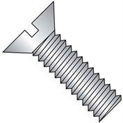 "10-24 X 1"" Slotted Flat Head Machine Screw - 18-8 Stainless Pkg Of 20"