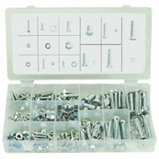 Carriage Bolts W/Nuts, Zinc Plated Steel, Small Drawer Assortment