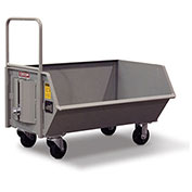 "CECOR® Heavy-Duty Low Profile Dumping Cart DB-043-5P - 6.9 cu.ft. 15"" Lip Height"