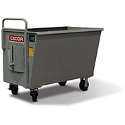 CECOR® Heavy-Duty Tall Profile Dumping Cart 9.6 cu.ft.