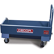 "CECOR® Heavy-Duty Extra-low profile Dumping Cart DB-L43-4P - 4.9 cu.ft. 12"" Lip Height"
