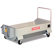 """CECOR® Heavy-Duty Extra-low profile Dumping Cart DB-L44-4P - 6.9 cu.ft. 12"""" Lip Height"""