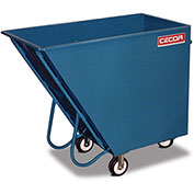 CECOR® Dumping Tilt Truck TA-318-6R - Steel, 18 cu.ft. Black