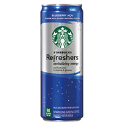 Starbucks Refreshers 12 oz Cans - Pack of 12 - Blueberry Acai