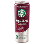 Starbucks Refreshers Raspberry Pomegranate Drink 12 oz Cans - Pack of 12