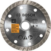 "BOSCH® Std Turbo Rim-Smooth Cut, 4""Dia, 7/8"", 5/8"" Arbor Sz - Pkg Qty 5"