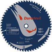 "BOSCH® Daredevil™ Table And Miter Saw Blade, 10""Dia, 12° Hook Ang"
