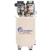 California Air Tools CAT-10010DC,Ultra Quiet & Oil-Free Air Comp. w/Air Drying System,10 Gal,Vert