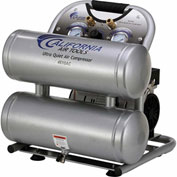 California Air Tools CAT-4610AC, 1HP, Ultra Quiet&Oil-Free Comp., 4.6 Gal, Twin Tank, 1-Phase 110V